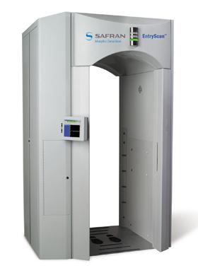 Entryscan Security walk-through vapor and particle detection portal